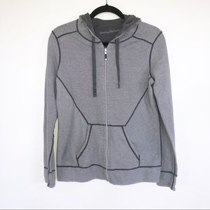 Tommy Bahama Grey Stripe Hoodie ZIP Up M